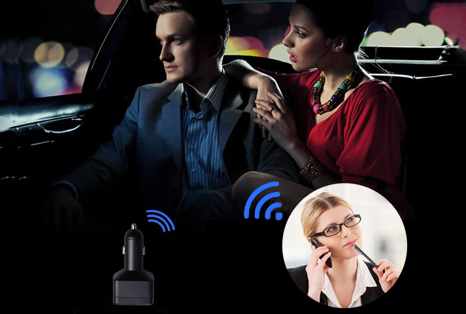car charger GPS with voice monitoring