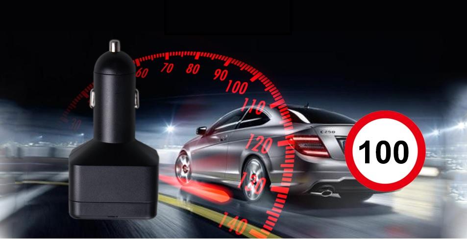 alarm překročení rychlosti gps lokator v nabíječce