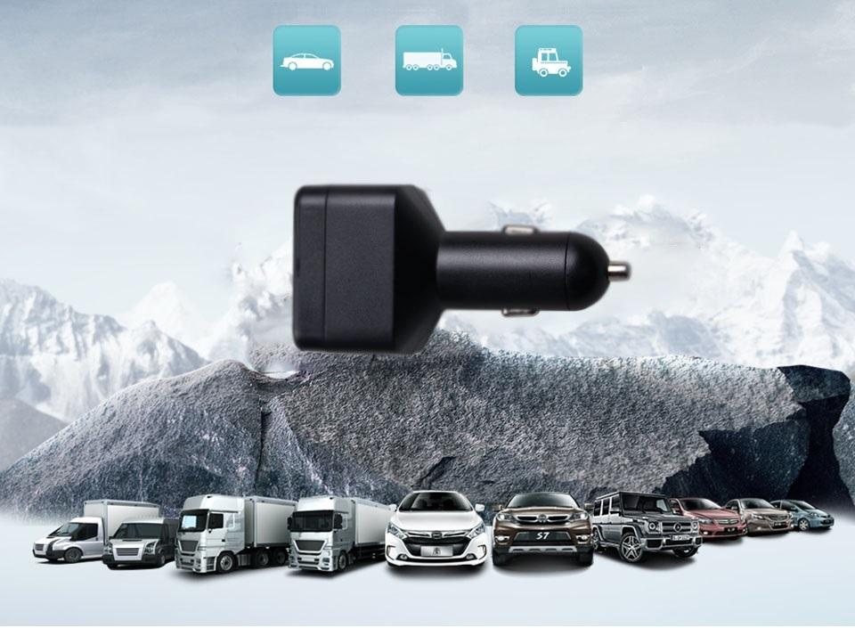 auto nabijecka GPS 2x USB tracker