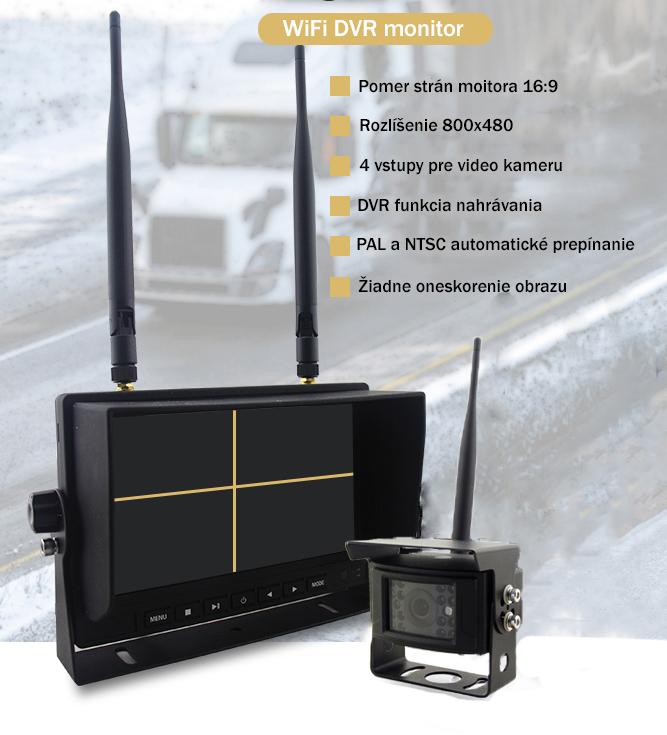 Cúvacia kamera s monitorom bezdrotova