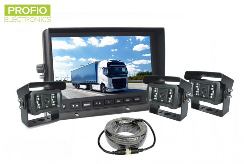 AHD set 3 kamerový