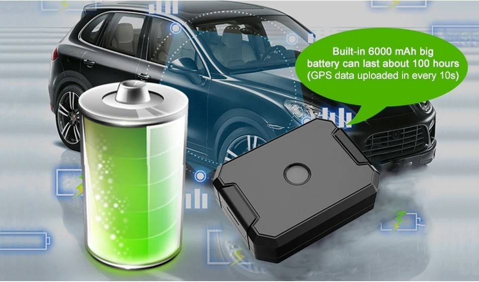 locator gps into car built-in battery with long life