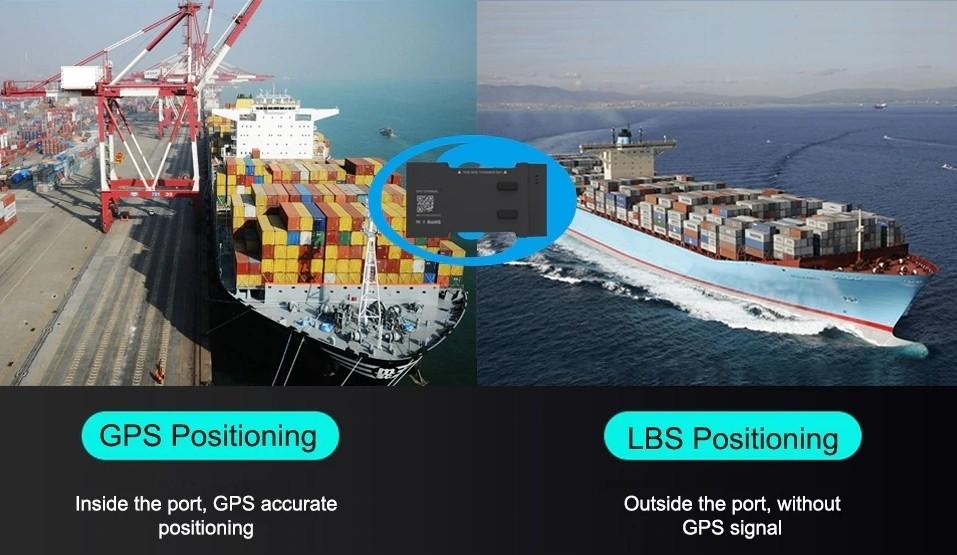kontajner tracker dvojite polohovanie gps a lbs