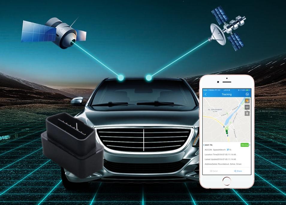 obd lokator dvojite sledovanie polohy GPS + LBS