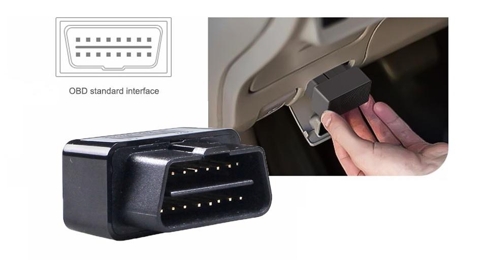 mini OBD lokator alarm odpojenia