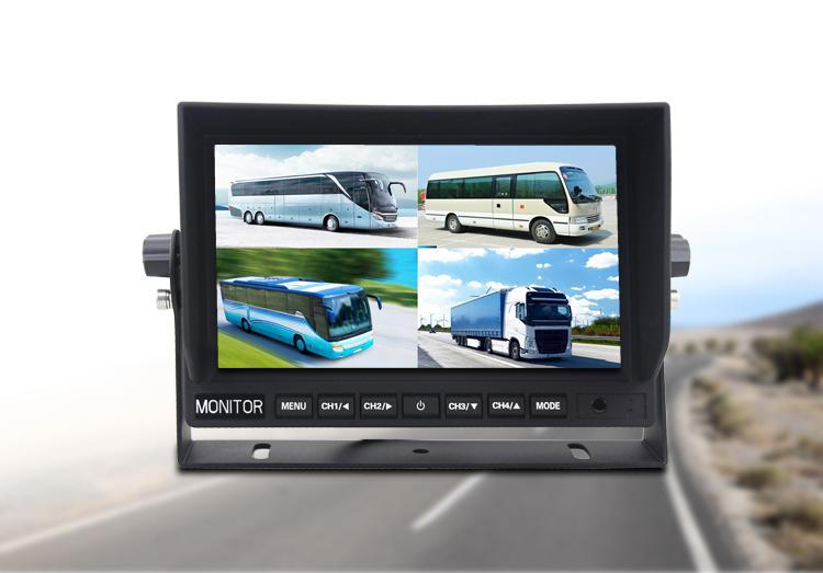 7 lcd monitor cuvaci s pripojenim 4 kamier