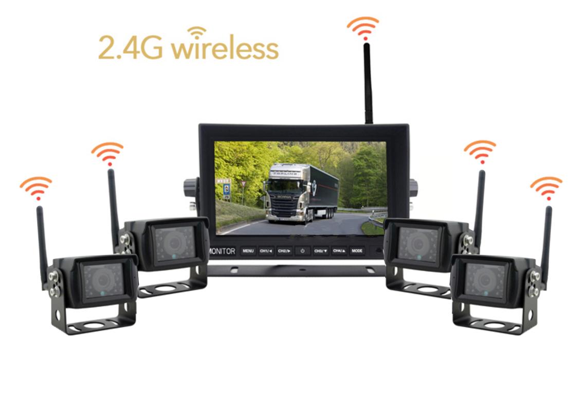 WiFi set 1x LED monitor a 4x cúvacia kamera