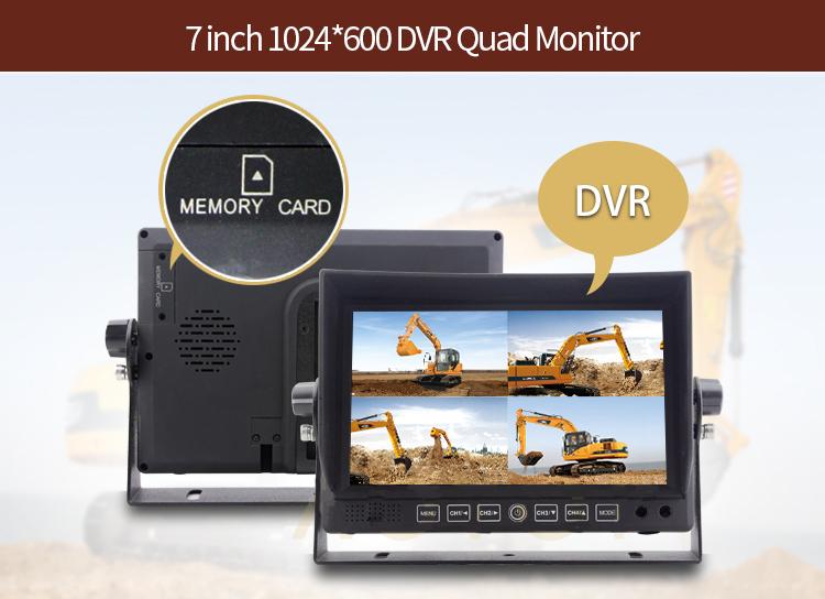 dvr lcd reverse monitor 7 inch