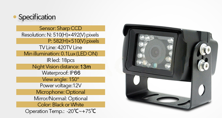 univerzalna cuvacia kamera s IR led