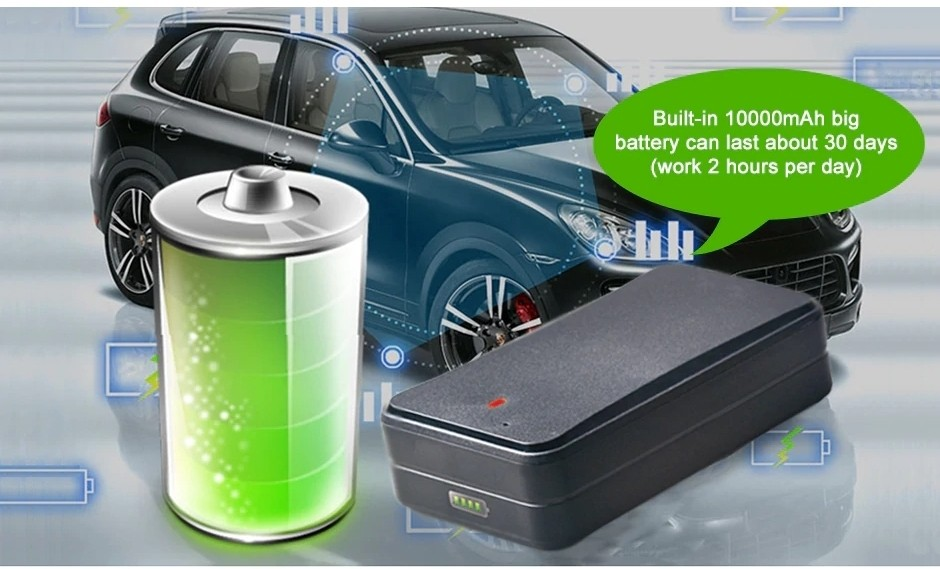 large capacity battery10000 mAh gps tracker