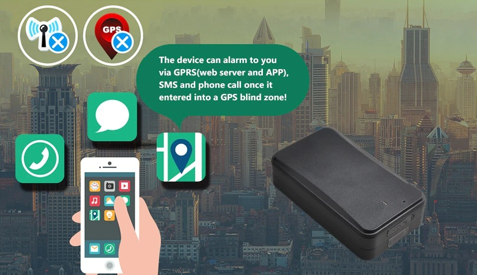 GPS blind zone alarm locator into car