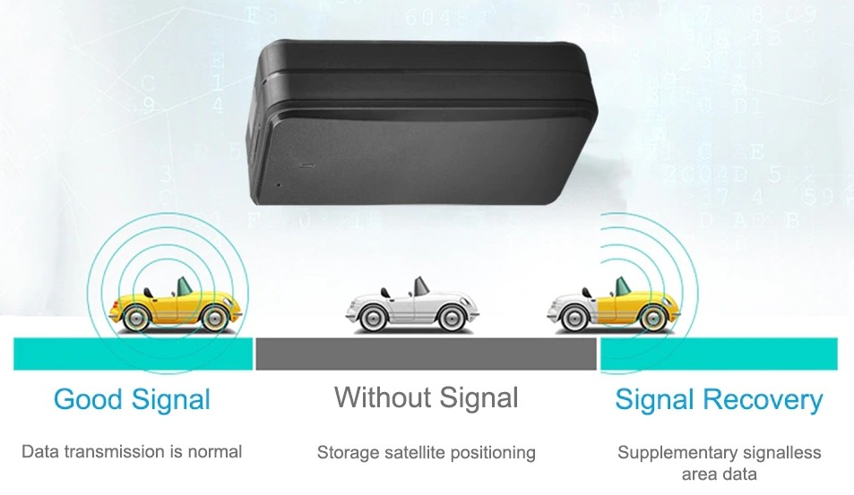 blind zone data supplement GPS car tracker