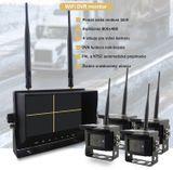 """Bezdrôtové cúvacie kamery s monitorom - 4x kamera + 7"""" LCD s nahrávaním (Obraz a Zvuk)"""