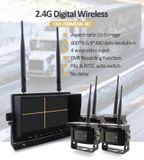 """Cúvacie kamery s monitorom - 3x wifi kamera + LCD 7"""" s možnosťou nahrávania na SD kartu (Audio + Video)"""