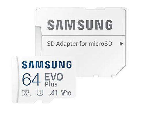 64GB pamäťová karta Samsung micro SDXC EVO Plus + SD adaptér