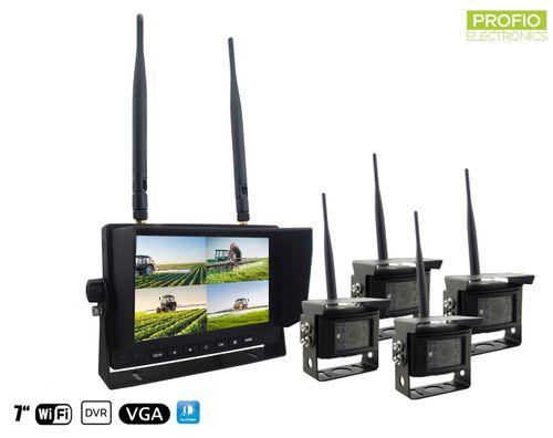 Bezdrôtové cúvacie kamery s monitorom - 4x kamera + 7