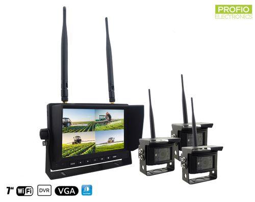 Cúvacie kamery s monitorom - 3x wifi kamera + LCD 7