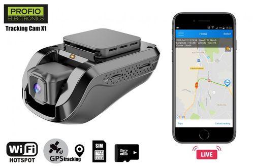 Kamera do auta PROFIO Tracking Cam X1 - FULL HD 1080 Dual WiFi s LIVE GPS sledovaním cez app v mobile + 3G prenos dát