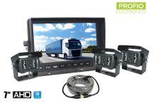 """3 kamerový systém s AHD 7"""" LCD monitorom a 18x IR LED"""