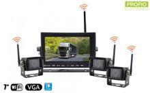 "3x WiFi cúvacie kamery + 7"" WiFi LED monitor - parkovací set"