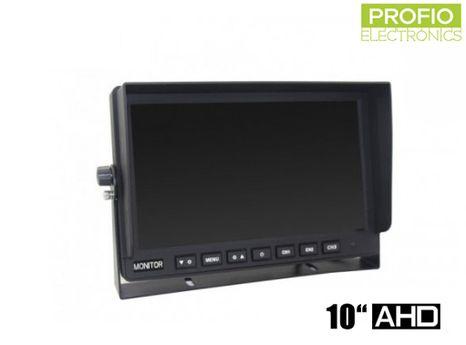 """AHD 10,1"""" LCD monitor pre cúvacie kamery s displejom 1024x600px a 3 AV vstupmi"""