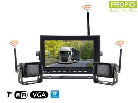 """Cúvací set autokamier s 7"""" LED WiFi monitorom + 2x WiFi kamera"""