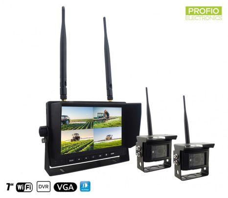 """Cúvacia kamera bezdrotováset - 2xkamera + 7"""" displays nahrávaním na SD kartu (Audio + Video)"""