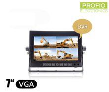 """DVR LCD cúvací monitor 7"""" s nahrávaním + 4 AV vstupy"""