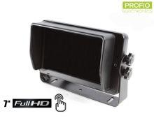"""FULL HD cúvací 7"""" monitor s dotykovou obrazovkou a podporou 4 cúvacích kamier"""
