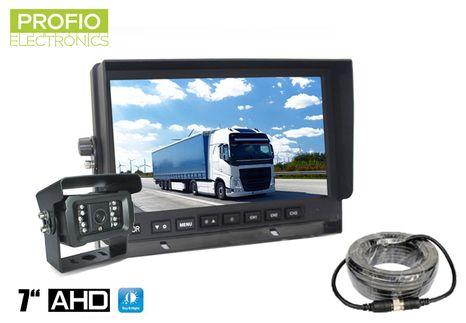 "Parkovací set AHD 7"" LCD monitor do auta a kamera s18 IR LED"
