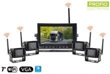 "Set na cúvanie 4x WiFi cúvacia kamera + WiFi 7"" LED monitor"