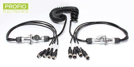 Štvorkáblový prepojovací kábel s možnosťou pripojenia až 4 cúvacích kamier