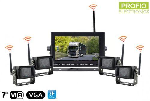 Set na cúvanie 4x WiFi cúvacia kamera + WiFi 7