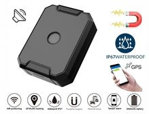 GPS lokátor vodotesný do auta + batéria 6000 mAh + odposluch